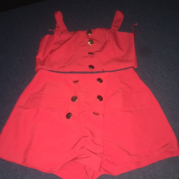 Forever 21 Other - 2 Piece Red Top & Shorts NWOT